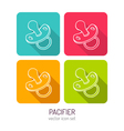 line art baby pacifier mobile icon set in four vector image vector image