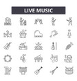 live music line icons for web and mobile design vector image vector image