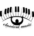 logo classical music in form an eye with vector image vector image