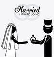 married couple desing vector image