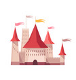medieval kingdom character fairy-tale castle vector image