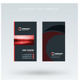 modern creative vertical red business card