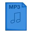 MP3 file icon cartoon style vector image