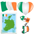 national colours of Ireland vector image vector image