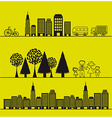 nature and city vector image vector image
