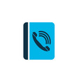 phone book icon colored symbol premium quality vector image vector image