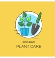 Plant care logotype design templates vector image vector image