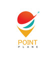 point plane logo vector image vector image