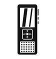 police voice recorder icon simple style vector image