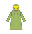raincoat protective clothing for work in the vector image vector image