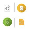 restore page icon vector image
