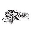 rose lettering vector image vector image