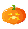 sad frustrated pumpkin jack-o-lantern cartoon vector image vector image