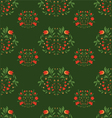 seamless patterns on green background vector image vector image