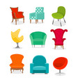 set beautiful different vector image vector image