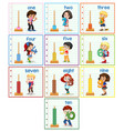 set of children hilding number vector image vector image