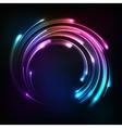 Shining rainbow neon lights circle frame vector image vector image
