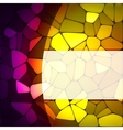 Stained glass design template EPS 8 vector image vector image