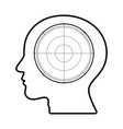 technology future radar goal target head vector image vector image