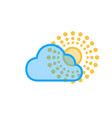 the sun and cloud summer icon circle rays vector image vector image