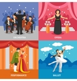 Theatrical Stage 2x2 Design Concept Set vector image