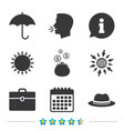 umbrella wallet and hat with case vector image vector image