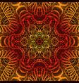 vintage psychedelic trippy colorful fiery mandala vector image vector image