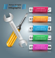 wrench screw repair icon business infographic vector image