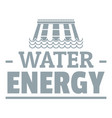 drop water energy logo simple gray style vector image