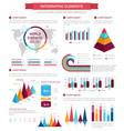 infographic element set for presentation design vector image