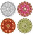 set mandala different color 42 vector image