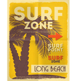surf poster vector image