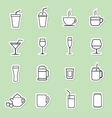 drinks icon vector image