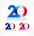 20 anniversary red blue logo vector image vector image