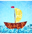Abstract triangles pattern simple boat vector image vector image