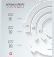 abstract white paper circle infographics with vector image vector image