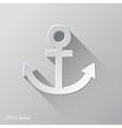 Anchor Flat Icon Design vector image vector image