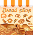 background store of bread and baking fresh vector image