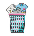 basket design with dirty clothes inside vector image