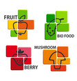 bio food icons vector image vector image