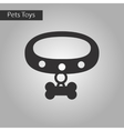 black and white style icon dog collar vector image vector image