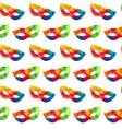 Bright carnival masks seamless pattern vector image vector image