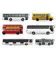 bus realistic set vector image
