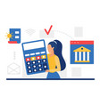 business accounting finance and budget management vector image