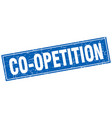 co-opetition square stamp vector image vector image
