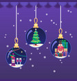 colorful in flat style xmas vector image vector image