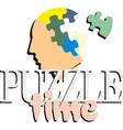 colorful puzzle head concept presentation puzzle vector image vector image