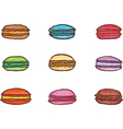 Colorful watercolor macarons vector image vector image