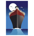 cruise ship cruise liner vector image vector image