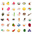 culinary icons set isometric style vector image vector image
